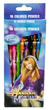 Disney Hannah Montana Miley Cyrus 10 Ct. Color Pencils