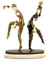 Art Deco Bronze Skulptur - Harlekin Tänzer - signiert Chiparus