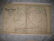 Antique 1914 Nassau County New York Dated Map Oyster Bay Westbury Mineola Roslyn