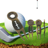 Personalised Golf Pitch Fork Mark Divot Repair Tool With Ball Marker Silcer Pop
