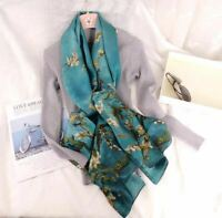 """100% Mulberry Silk Womens Elegant Large Long Scarves Wraps Shawl 69""""*26"""" Gifts"""