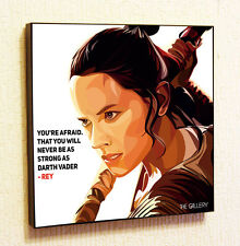 Rey Star Wars Painting Decor Print Wall Pop Art Poster Canvas Force Awakens Gift