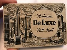 Rothmans Deluxe Pall Mall Vintage Empty Tobacco Tin, England