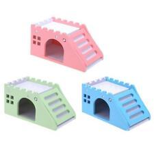Wood Guinea Pig Rat Hamster Hammock Bed Nest Double-Deck Villa House Cage Kit