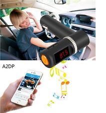 Bluetooth Car Kit FM Transmitter Handsfree MP3 Player Charger w/LED for iPhone6