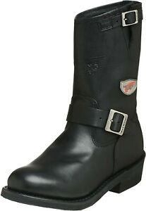 Red Wing UK12 Biker Motorbike Motor Cycle Black Leather Boots
