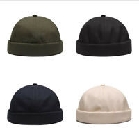 Men Women Casual Solid Color Hat Cap  Sailor Brimless Hip Hop