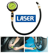 Láser de Coche de Carreras/Bicicleta De Glicerina líquido llena calibrador de presión de neumáticos 0-60psi, 6055