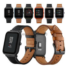For HuamiAmazfit Bip Youth Watch Band 20mm Classic Genuine Leather Wrist Strap