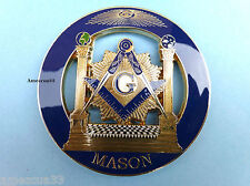 Blue Lodge Master Mason Cut out Car Emblem B&J Freemasonry  Pillars Luxurious