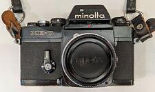 Vintage Minolta XE-7 35mm manual focus film camera
