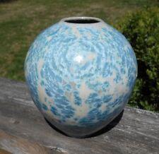 Vintage Handcrafted Pottery Crystalline Glazed Vase 1978 Signed