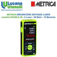 METRICA MISURATORE DISTANZ LASER modello DOUBLE 50 - 2 Laser 50 Metri 10 Memorie