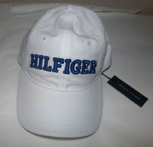 NWT MENS TOMMY HILFIGER BASEBALL CAP/HAT~WHITE / BLUE~OS