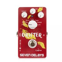 Caline CP-37 Drifter Seven Delays Guitar Effect Pedal Guitar Multi Delay Pedal