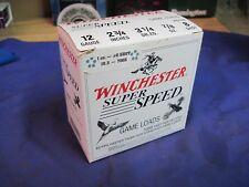 WINCHESTER shotgun shell SUPER SPEED BOX USA 8 VINTAGE empty game load 12 ga