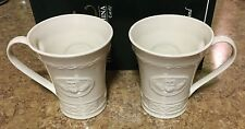 Belleek - Set of 2 - Claddagh Mugs, 10-Ounce, Ivory - Brand new in box!