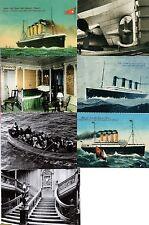 7 Titanic Mini Post cards White Star Line Ship Nautical Sea Ocean Boat Antique