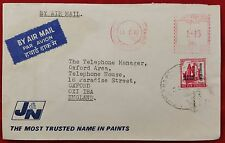 India Calcutta 1971 Refugee Relief OVPT on Franked Commercial Airmail Cover - GB