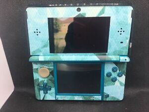 Nintendo 3DS Custom Decal Handheld Console Video Game System - Tested Working