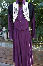 Cowgirl ~ 1849 Authentic Ranchwear ~ 2 pc skirt & jacket Sz M ~ Vintage