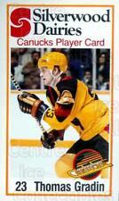 1981-82 Vancouver Canucks SilverWood Dairies #3 Thomas Gradin