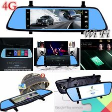 7'' Bluetooth WI-FI DVR GPS Android 4G Car Rear View Mirror Monitor Camera Nav