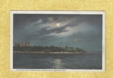 CT Groton 1920 Antique postcard PLANT ESTATE BY MOONLIGHT to Brooklyn NY Mullen