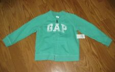 NWT Baby Gap Girl Logo Zip Sweat Shirt Toddler Kids Green Size 3T 3 Years NEW