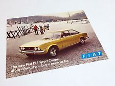 1970 Fiat 124 Sport Coupe Information Sheet Brochure
