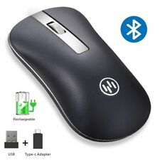 Wireless Mouse Bluetooth Rechargeable Ergonomic Type C Adapter PC Laptop Mice