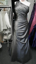 BNWT Charcoal One Shoulder Taffeta prom/Evening  dress from Excite  size 14/16