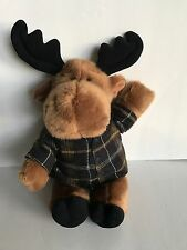 Gund Heads and Tales brown Moose with Flannel Shirt Christmas decor