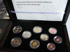 Latvia 2015 Offical EURO Coin PROOF Set,  Lettland,  Souvenir wood box RARE