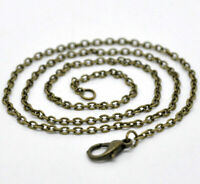 12Pcs Antique Bronze Necklace Making Chains Cable Link Jewelry Making Findings