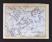 1850 Johnston Military Map  Battle Turcoing & Tournay 1794 France Lille Napoleon