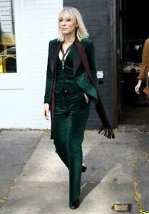 Vintage Tom Ford era Gucci Emerald Velvet Tuxedo Blazer and pants suit 40 38 xs