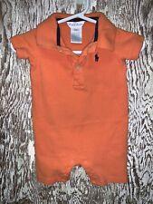 Ralph Lauren Baby Boy Polo Shortall Orange 6 Months One Piece