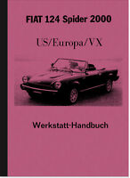 Fiat 124 Spider 2000 (US/Europa/VX) Reparaturanleitung Werkstatthandbuch Manual
