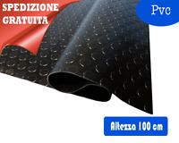 PAVIMENTO IN PVC BOLLATO NERO ALTEZZA 100 CM