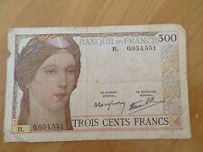 BILLET DE 300 FRANCS CLEMENT SERVEAU 1938 R. 0.054.551