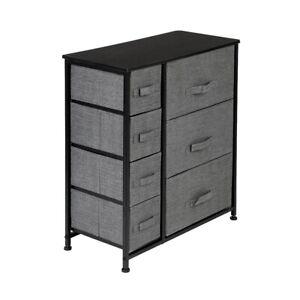 Fabric Dresser Storage Organizer 7 Drawers Organizer Closets Units Steel Frame