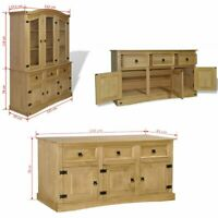 Extra Large Sideboard Cupboard SolidWood Cabinet Buffet Pinewood Rustic Cupboard