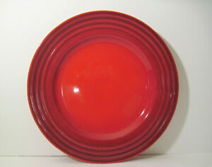 "1 Le Creuset French Cherry Red Cerise 12"" Large Dinner Chop Plate EUC Very Nice"