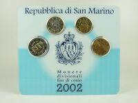*** EURO KMS SAN MARINO 2002 Mini - Kit Kursmünzensatz Coin Set Münzen ***