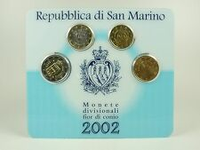 *** euro kms san marino 2002 mini-kit monedas de curso conjunto coin set monedas ***