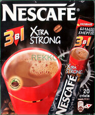 Nescafe Nestle eXtra Strong 3 in 1 Instant Coffee Mix Box of 20 Sticks x 17.2g