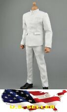 1/6 long Sleeve white Chinese-style Costume Bruce Lee Kung Fu suit ❶❶USA❶❶