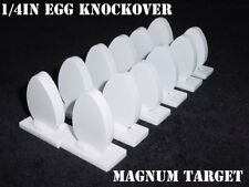 Steel Shooting Targets - 12 New Egg Knockover - Action Pistol & Rifle Silhouette