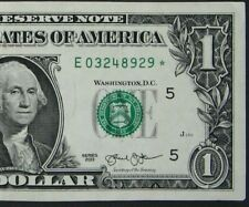 "2013 $1 (ONE DOLLAR) – STAR NOTE – CURRENCY, BILL – ""E"""